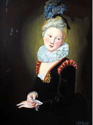 Charlotte Desmares - Modèle de Watteau