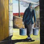 ean-Claude Blanchard-L'oiseau et la vieille