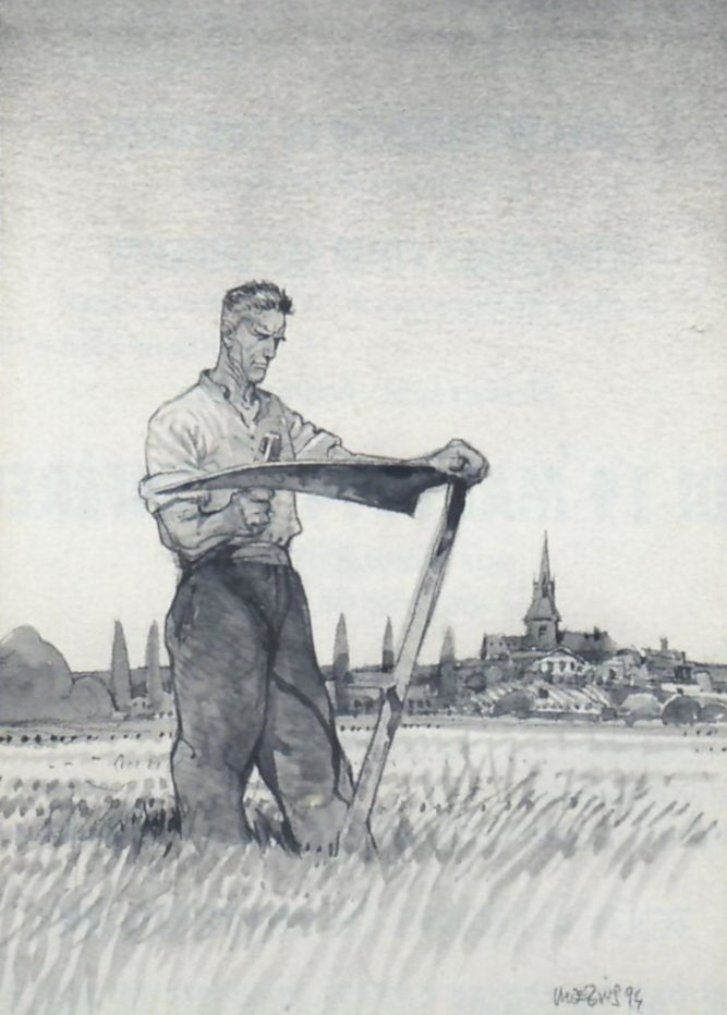 L'homme et la terre à Châtillon, Moebius, 1994, dessin