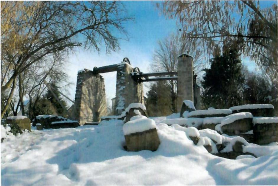 Treuil de carrier de la rue Ampère, classé monument historique, dernier treuil conservé de la région parisienne voire de France.