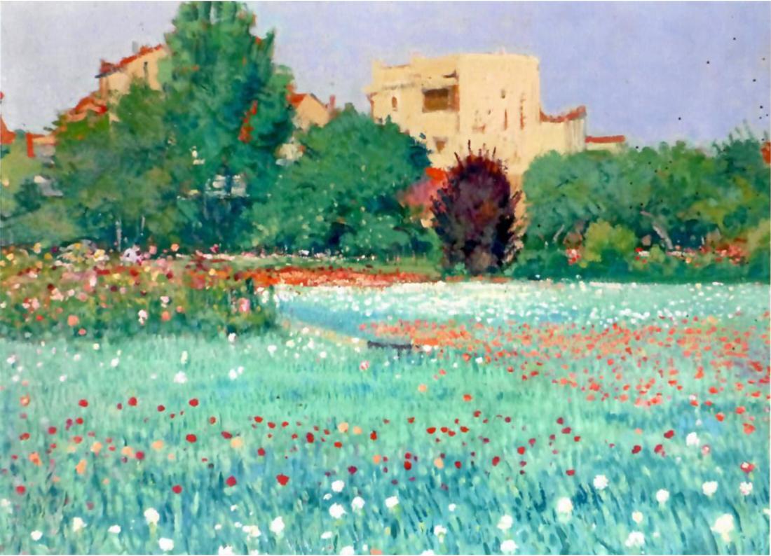 Paul Baudier, Le champ d'œuillets, vers 1930, huile sur toile