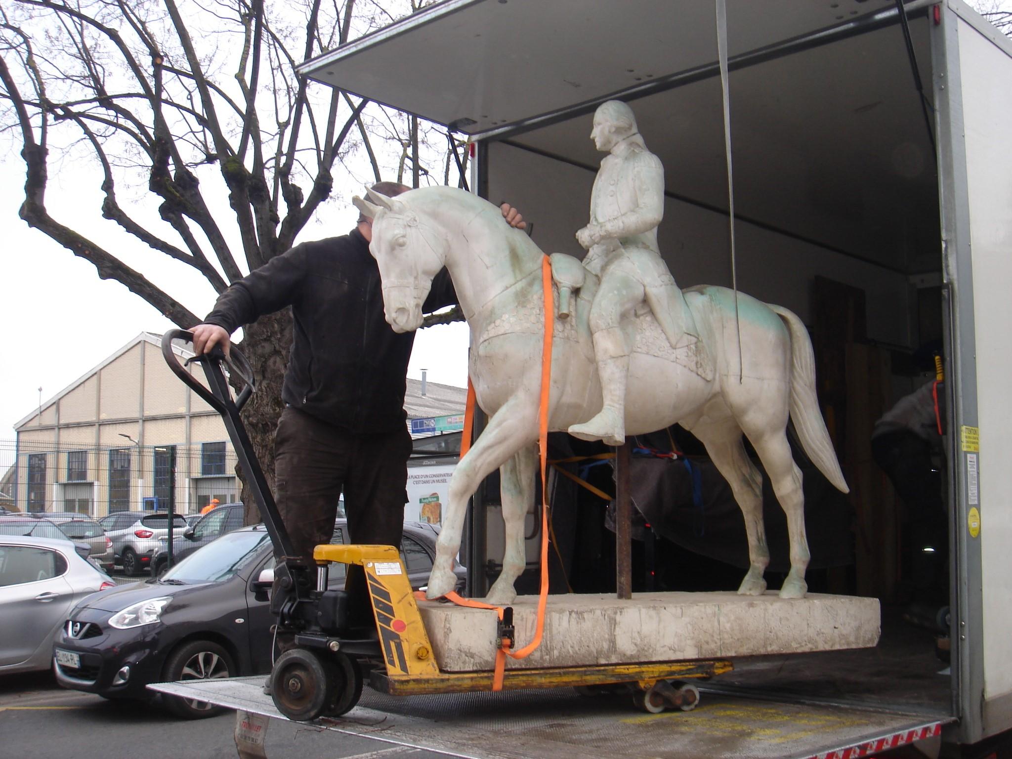 « George Washington sur son cheval » est entré dans nos collections